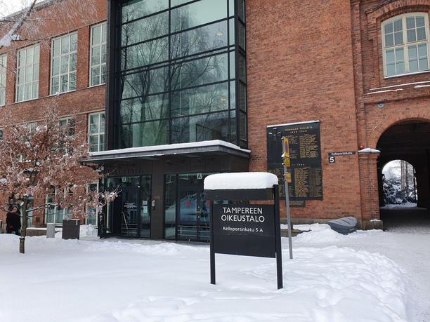 Niko Ranta-ahon vangitsemisoikeudenkäynti käytiin Tampereen oikeustalolla 12. helmikuuta.