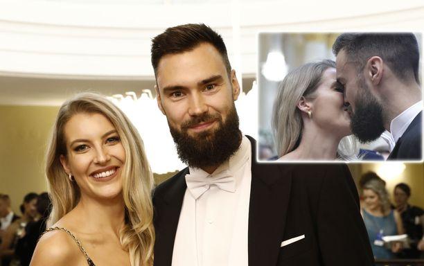 Tim Sparv ja Jitka-rakas olivat Linnan juhlien 2019 kuvatuimpia pareja.