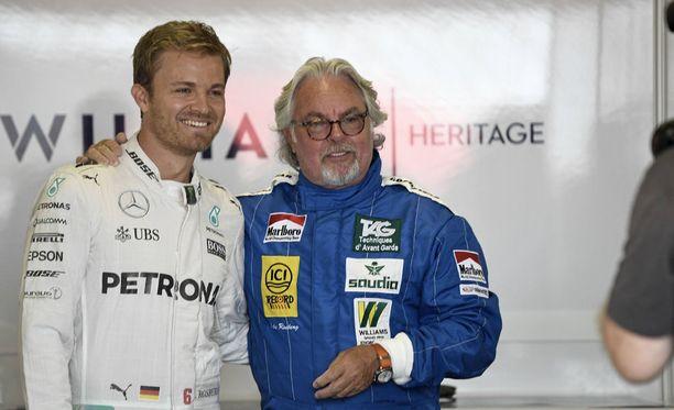 Nico ja Keke Rosberg ovat nykyäänkin tuttu näky F1-varikolla.