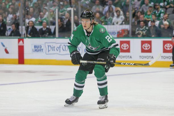 Roope Hintz avasi maalihanansa NHL:ssä.