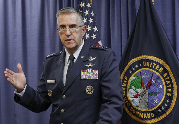 Kenraali John Hyten uskoo, että on vain ajan kysymys, milloin Pohjois-Korea saa käyttöönsä Yhdysvaltoihin yltävän ydinohjuksen.