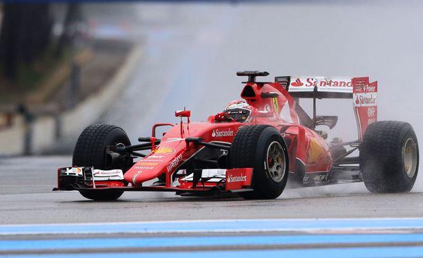 Kimi Räikkönen oli tänään testaamassa Paul Ricardin radalla.