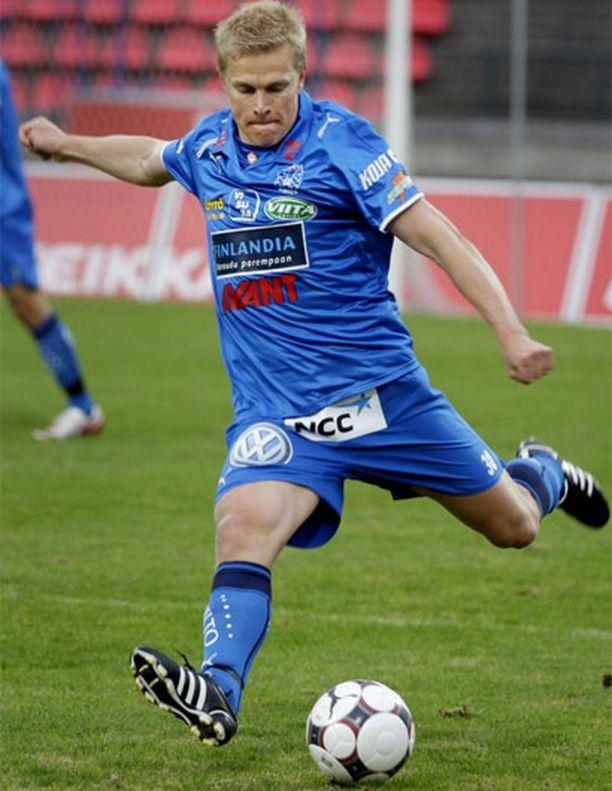 Jari Niemi oli iskussa Turun Palloseuraa vastaan.