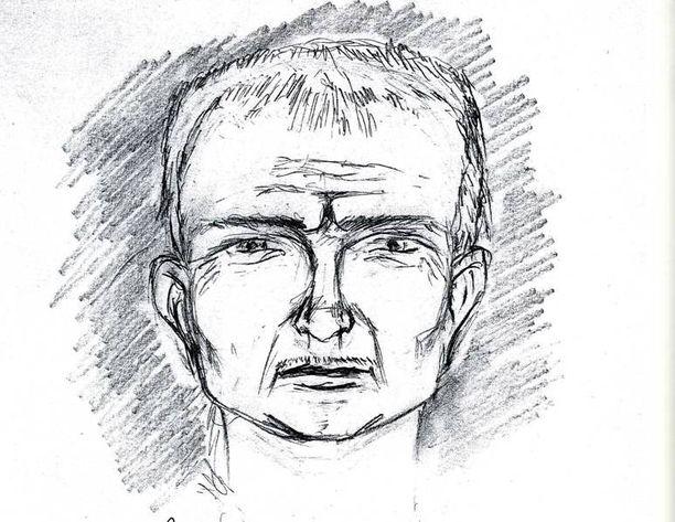 Taiteilijan näkemys Strelkovista SBU:n antaman etsintäkuulutuksen yhteydessä.