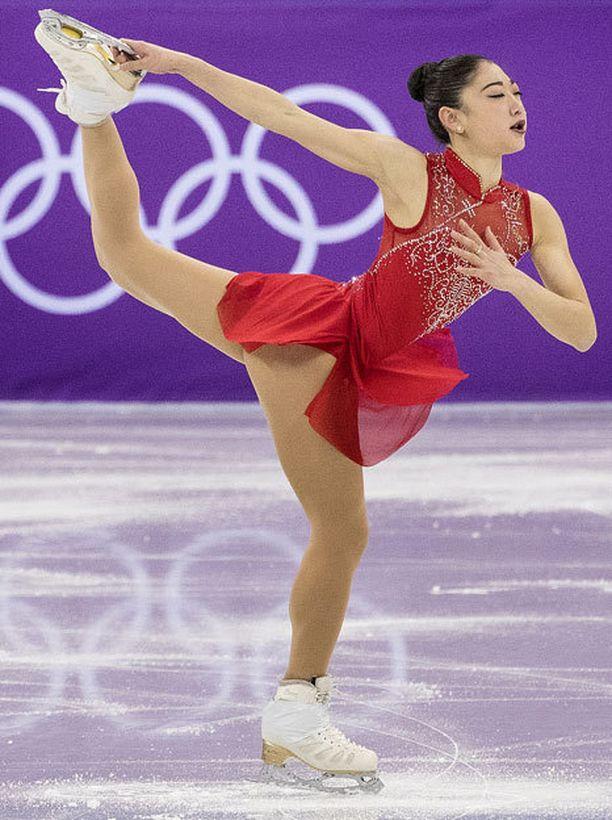 Mirai Nagasu luisteli Pyeongchangissa omat ennätyspisteensä.