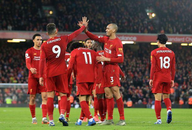 Futiskentillä Liverpoolin mestaruutta ei enää uhkaa mikään.