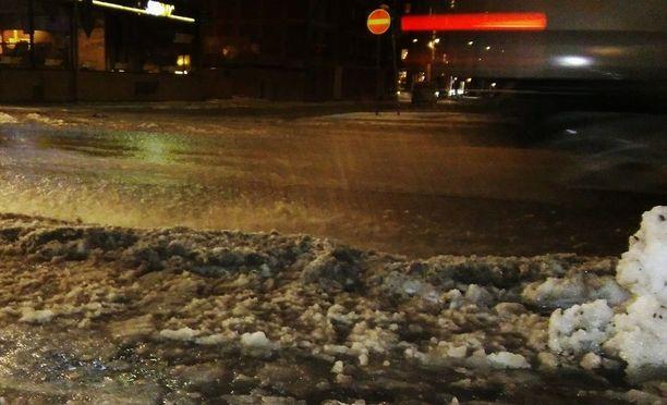 Tampereella oli joulukuun lopulla sentään vielä loskaa. Etelässä ei ole sitäkään.