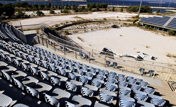 Ateenan vuoden 2004 baseball-stadion on jätetty täysin retuperälle.