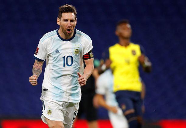Lionel Messi johdattaa Argentiinan tiistaina erittäin korkealla pelattavaan otteluun.