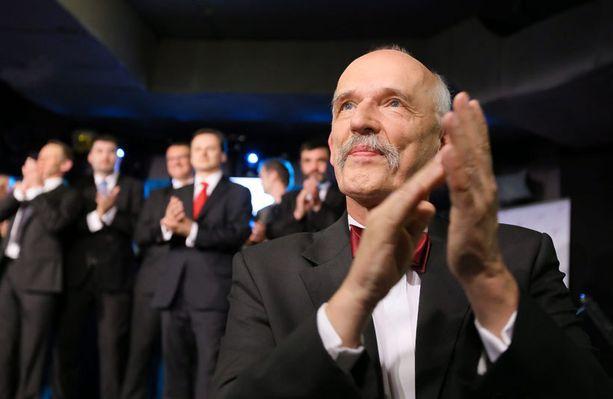 Puolassa neljä paikka imaisi Janusz Korwin-Mikken johtama puolue, joka haluaa palauttaa maahan kuninkaalliset.