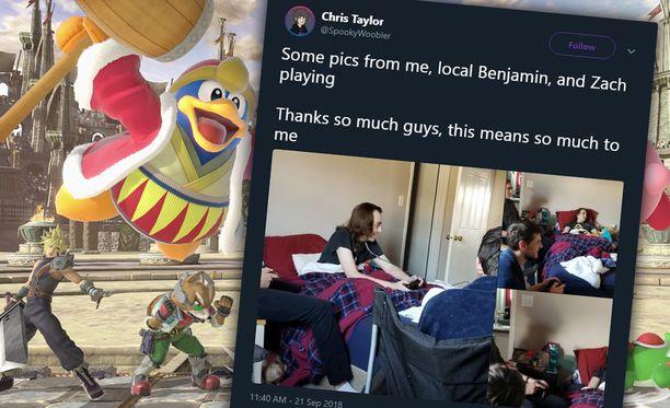 Taylor kiitti kaikkia auttaneita Twitter-tilillään.