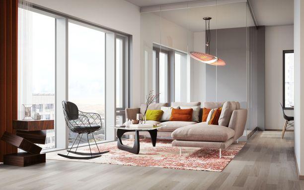 Yksi huoneistojen erikoisominaisuuksista on viherhuone.