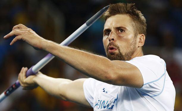 """""""Hyvä 80 metriä meni noinkin"""", Antti Ruuskanen kommentoi keskiviikon heittojaan."""