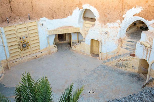 Tunisialainen Hotel Sidi Driss on tuttu Tähtien Sota -elokuvista.