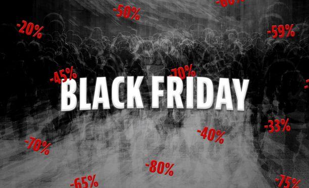 Black Fridayn tarjousvillitys on levinnyt Yhdysvalloista Suomeen.