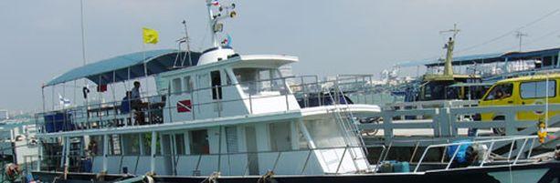 Sukellusyritys säilytti kaikkia varusteitaan aluksella.