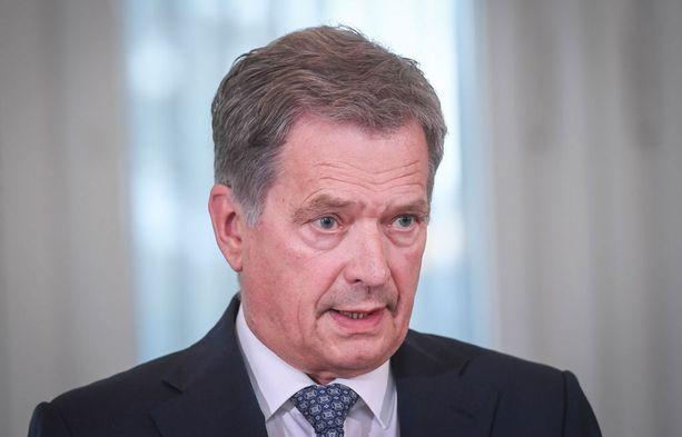 Presidentti Niinistö korosti neuvotteluratkaisua.