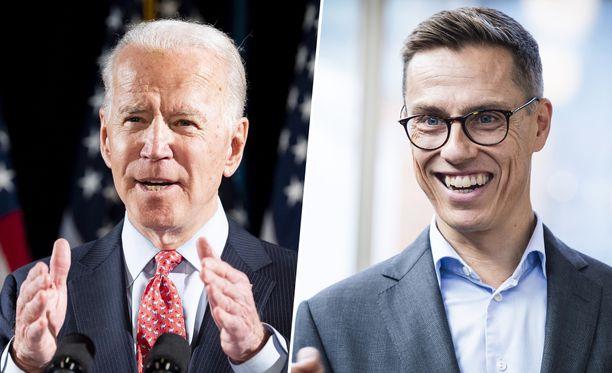 Professori Alexander Stubb (oik.) on tavannut Joe Bidenin kahdesti: ensin nuorena opiskelijana ja toisen kerran ulkoministerinä mäkihyppykatsomossa.