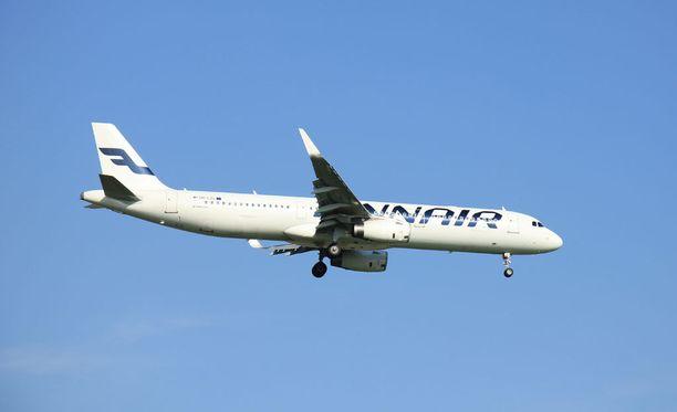 Finnairin koneessa oli epäilyttävä haju maanantaiaamuna. Kuvituskuva.