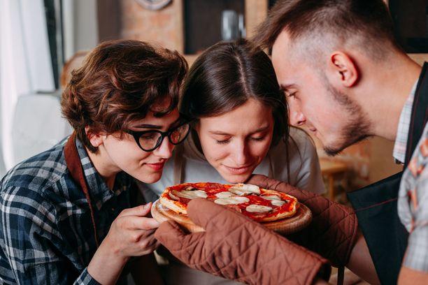 Pizzaa! Pelkkä tuoksu herättää mielihalun.