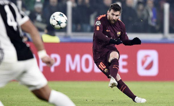 Leo Messi pääsi Juventusta vastaan kentälle vasta 56. minuutilla.