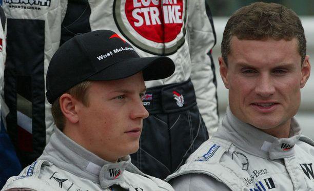 Kimi Räikkönen ja David Coulthard ajoivat tallikavereina McLarenilla vuosina 2002-2004.
