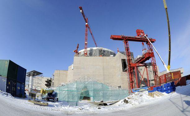 Tältä näytti voimalatyömaalla helmikuussa 2011. Rakentaminen alkoi vuonna 2005.