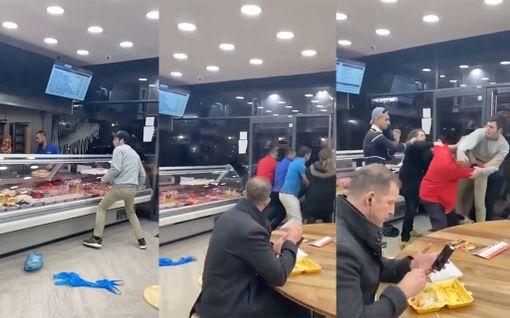 Kebab-ravintolassa alkoi järjetön tappelu – brittimieheltä huvittava reaktio