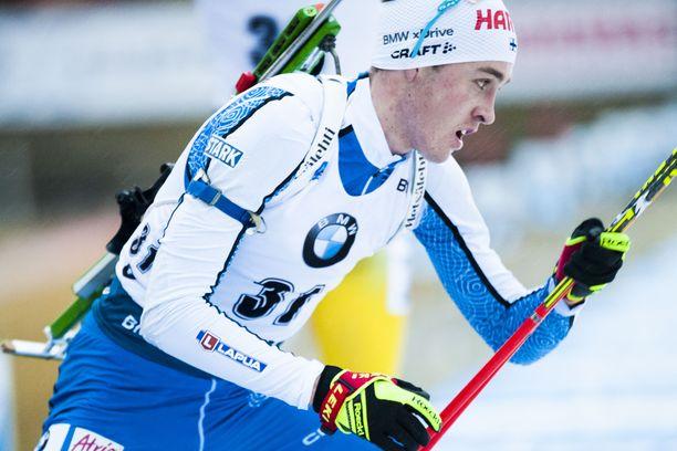 Tero Seppälä oli hiihtoajoissa 20:s perjantaina Oberhofin pikakilpailussa.