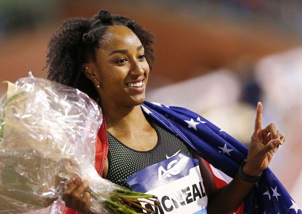 Brianna McNeal on voittanut olympiakultaa ja maailmanmestaruuden.