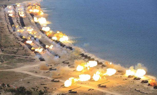 Pohjois-Korean mukaan kyseessä oli kaikkien aikojen suurin tykistöharjoitus.