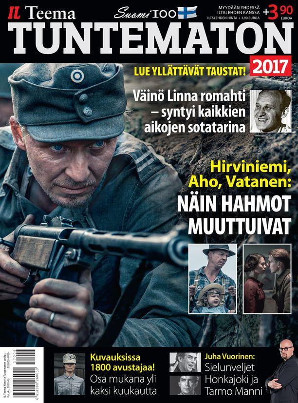 Tuntematon 2017 myydään yhdessä Iltalehden kanssa. Iltalehden hinta + 3,90 €.