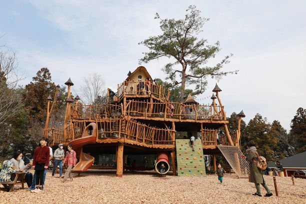 Lapsille Japanin muumipuistossa on tarjolla monenlaista tekemistä.