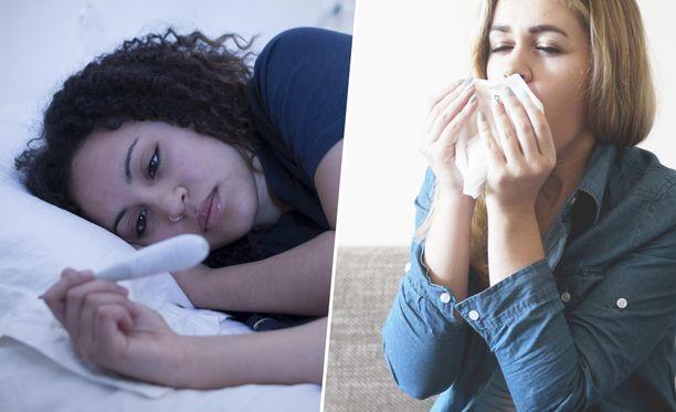 Johtuuko kurja olo flunssasta vai allergiasta? Oireet voivat olla hyvinkin samanlaisia.