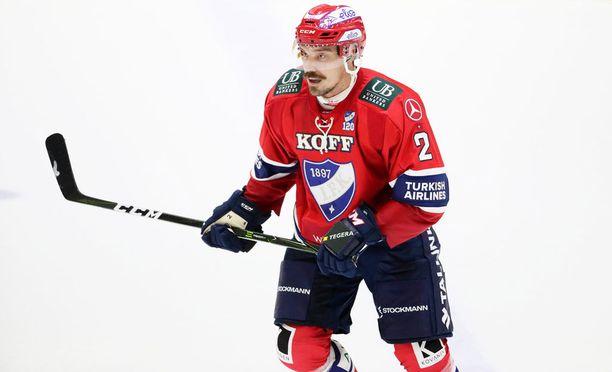 Teemu Laakso ei päässyt vauhtiin HIFK:ssa.