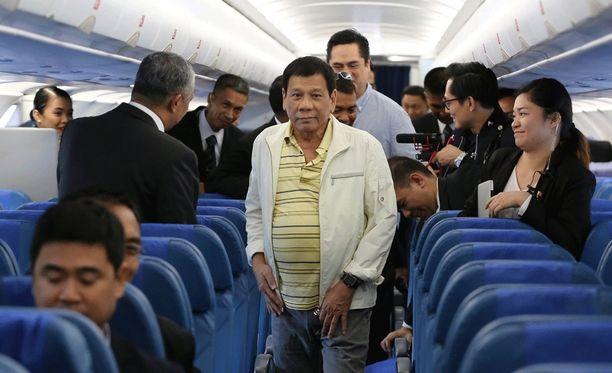 Duterte saapui Asean-huippukokoukseen Laosiin eilen.