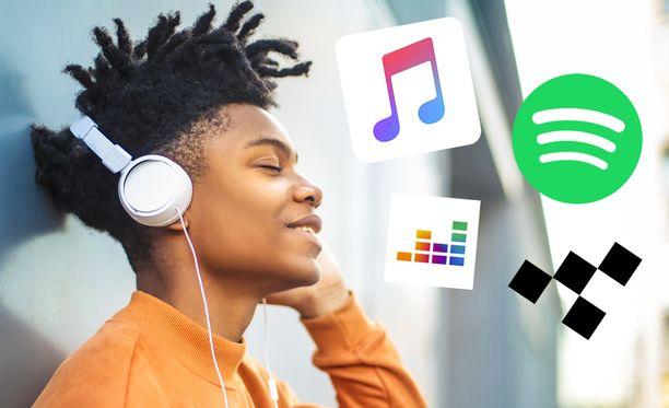 Musiikkipalveluissa on valinnanvaraa.