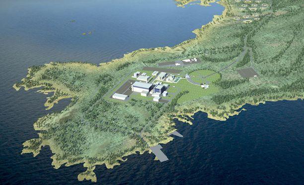 Fennovoiman havainnekuva ydinvoimala-alueesta.