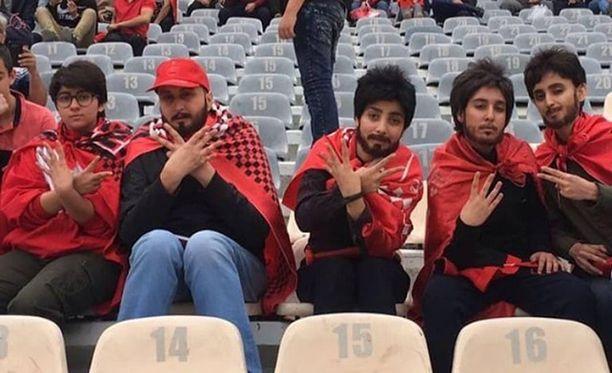 Kuva on otettu Azadin stadionilla Teheranissa viime viikon perjantaina.