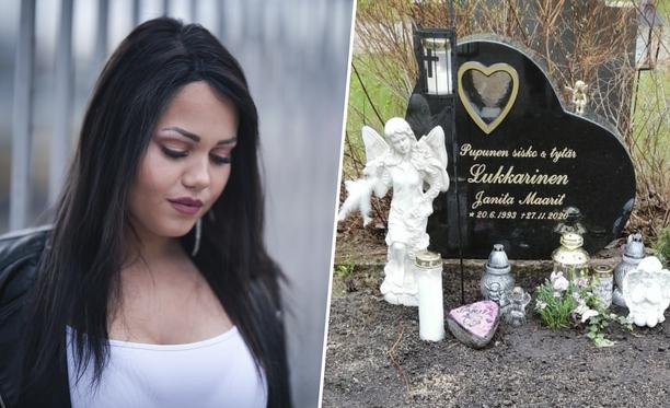 Janita sai haudalleen kauniin hautakiven.