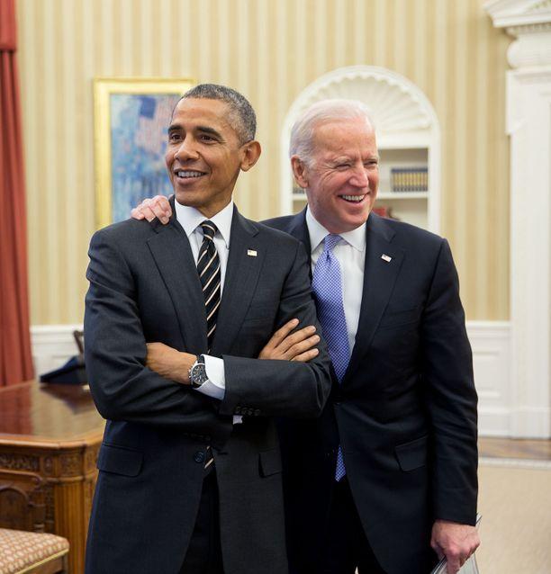 Presidentti Barack Obama ja varapresidentti Joe Biden Valkoisessa talossa helmikuussa 2015.