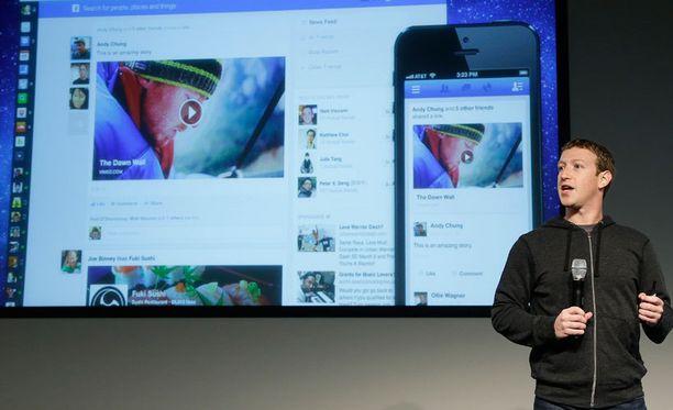 Mark Zuckerberg esitteli tänään uutta Facebookia.