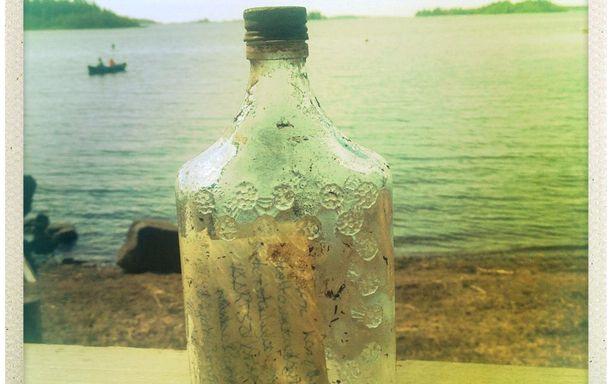 Posti kulki tässä pullossa yli kolme vuosikymmentä.