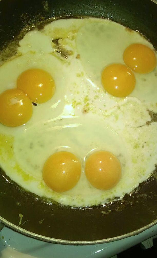 Yhtä lukuunottamatta jokainen rasian munista piti sisällään tuplakeltuaisen.