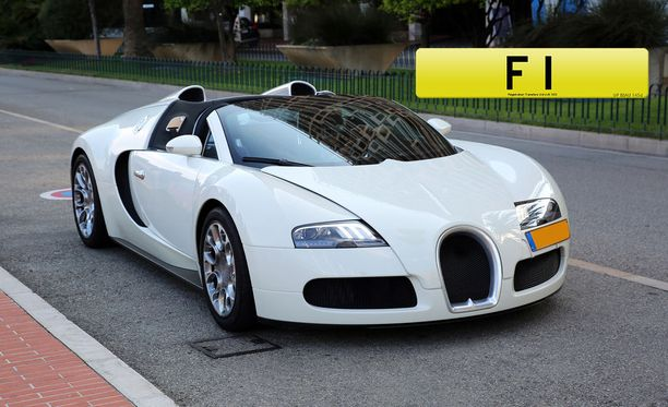 F1-kilpi on viime aikoina komistanut omistajansa Bugatti Veyron -urheiluautoa.