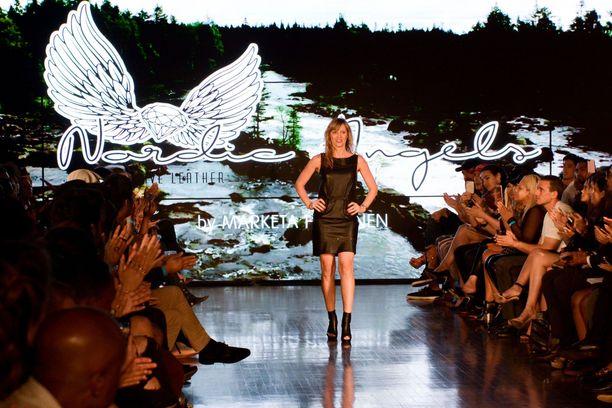 Marketa Häkkinen on päässyt Nordic Angels -merkkinsä kanssa jo muotiviikkojen näytöksiin. Kuva on Los Angelesin muotiviikolta lokakuulta.