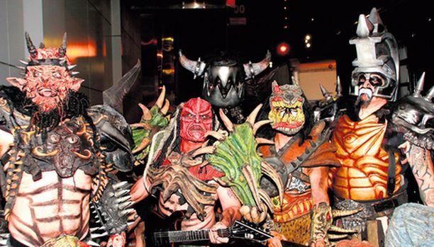 Amerikkalainen Gwar-bändi on tunnettu hirviöasuistaan ja kauhuelementtejä sisältävistä esityksistään.