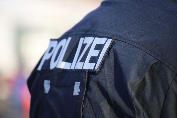Poliisilla oli operaatio Saksassa. Kuvituskuva.