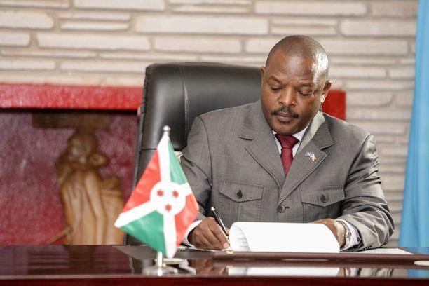 Burundin president Pierre Nkurunziza johti maataan rautaisella otteella vuodesta 2005 lähtien.