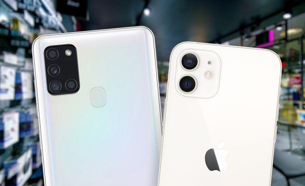 Samsungin ja Applen puhelimet hallitsevat operaattorien myyntilistoja.